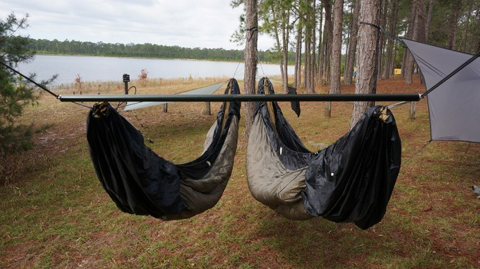 Hammocks with a view of Doe Lake