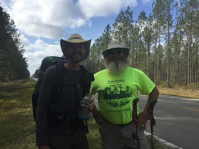 We were surprised to find Hiker Slim on the roadwalk