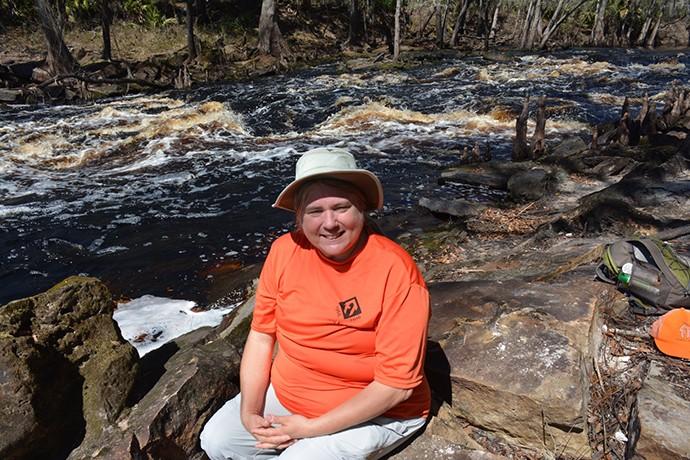 Taking a break at the Aucilla Rapids