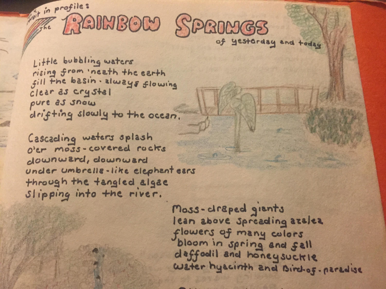 Rainbow Springs poem