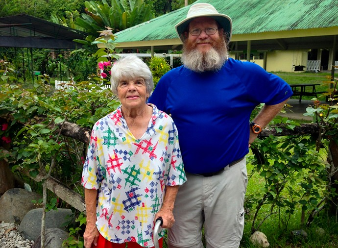 John and his mom during our trip to Panama two years ago