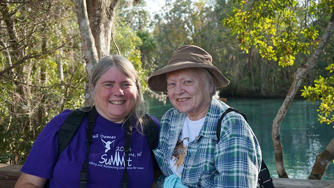 Me and Mom at Three Sisters Spring