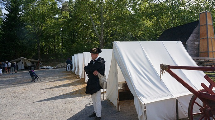 Current encampment at the Yorktown Victory Center