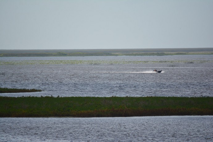 Lake Okeechobee is the second largest lake entirely within the United States