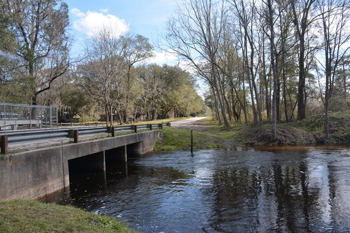 Sampson River in flood stage