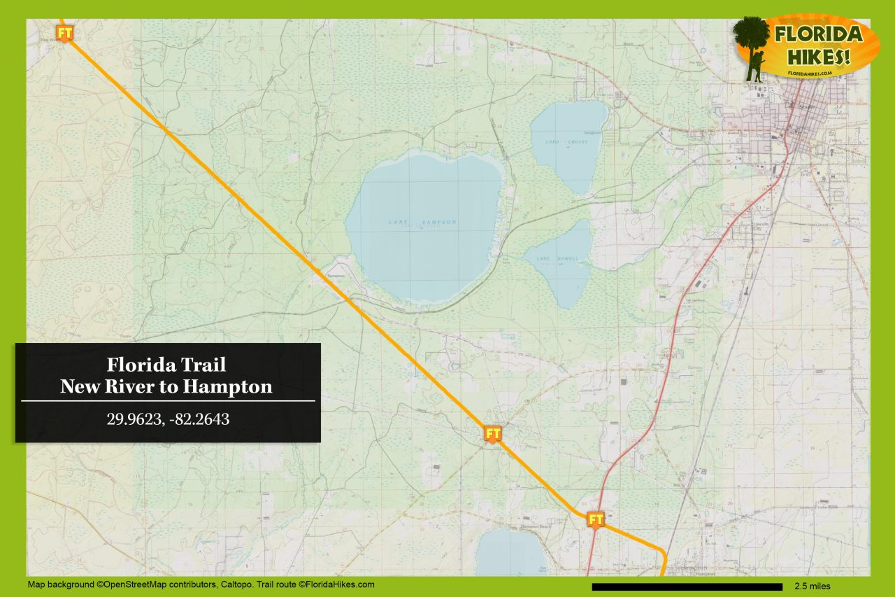 Florida Trail New River to Hampton map
