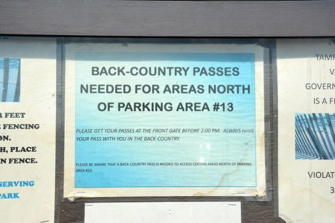 Permit for Klondike Beach