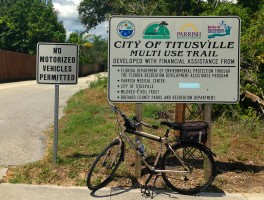 Biking the City of Titusville Multi-Use Trail