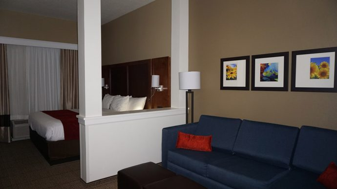 Our room at the Comfort Suites Dunnellon