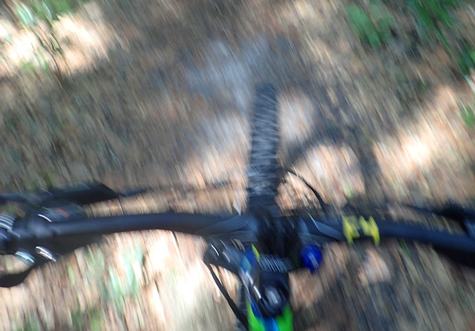 a blur when you're pedaling!