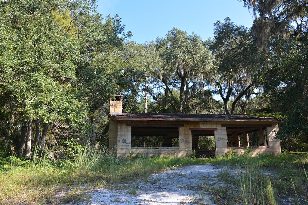 The former picnic pavilion