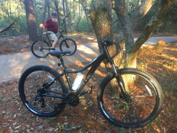 Bikes on the Titusville Bike Path
