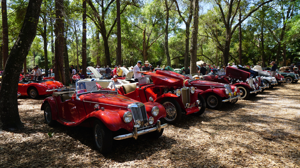 British Sports Cars At Mead Garden Florida Hikes - Dade city fl car show