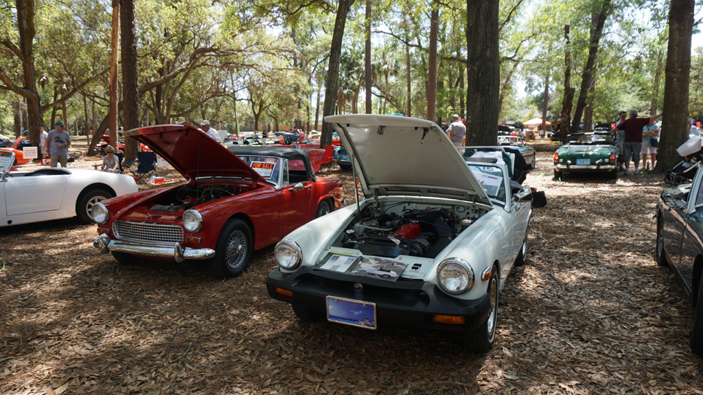 British Sports Cars At Mead Garden Florida Hikes - New smyrna car show