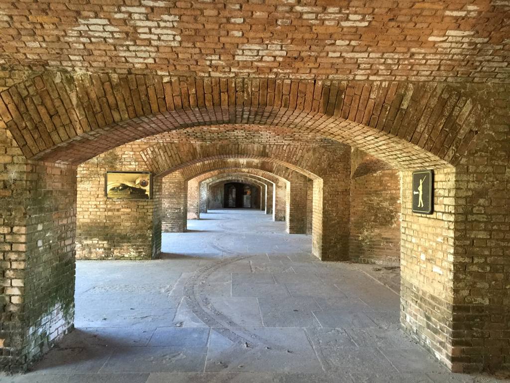 Inside the brick archways of Fort Jefferson (Bob Finley)
