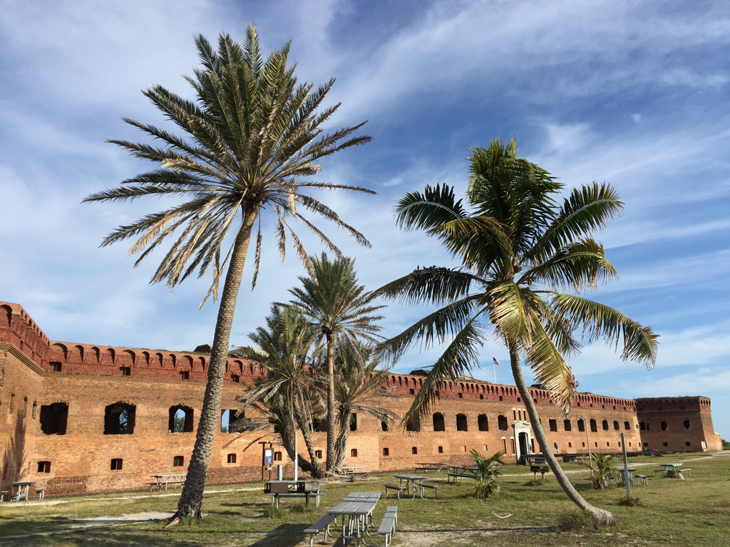 Fort Jefferson as seen from the picnic area (Bob Finley)