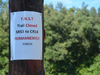 Florida Trail closure notice