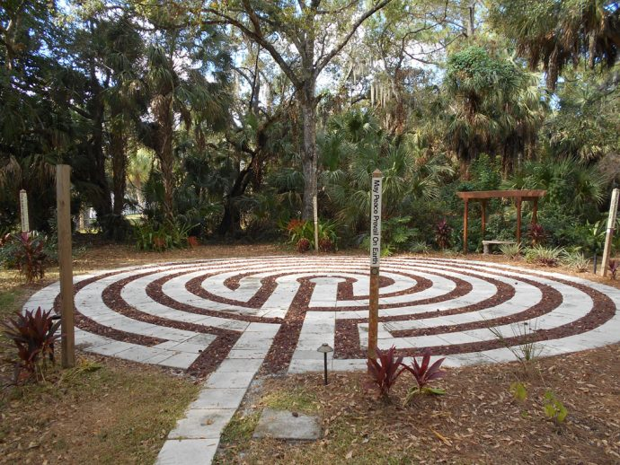 labyrinth behind Unity of Sarasota