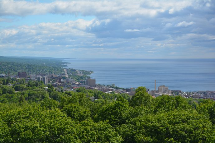 Duluth as seen from the top of Enger Tower