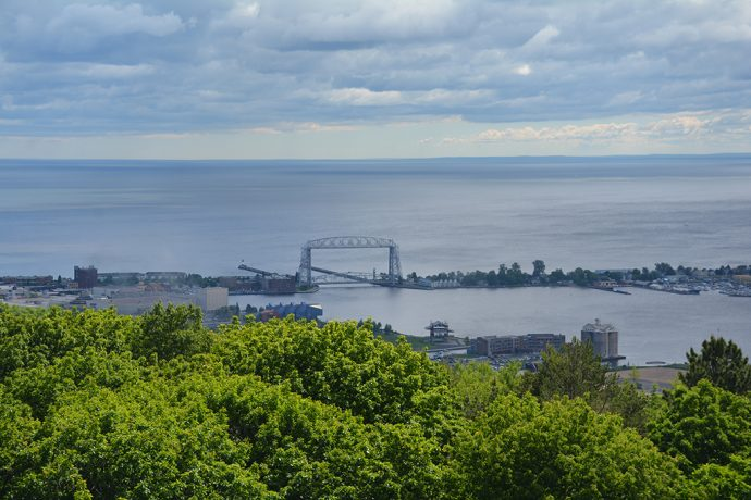 Aerial Lift Bridge from Enger Tower