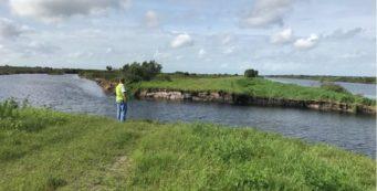 Kissimmee River levee breach
