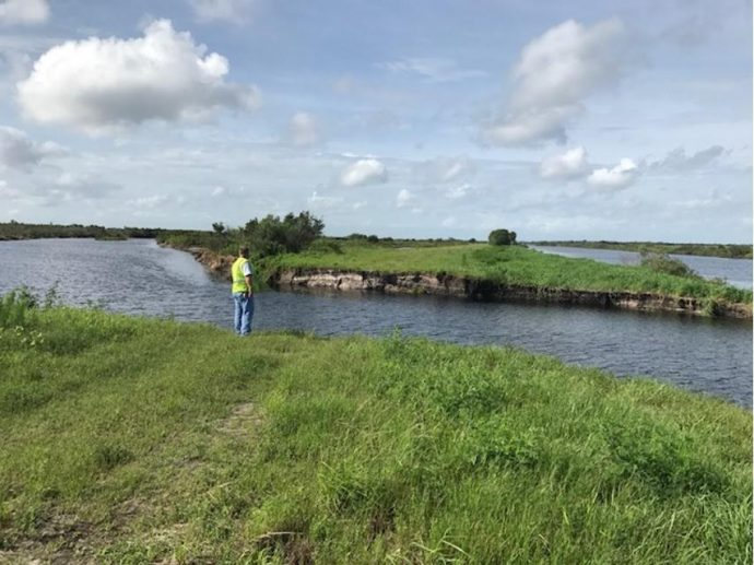 Kissimmee River levee breach