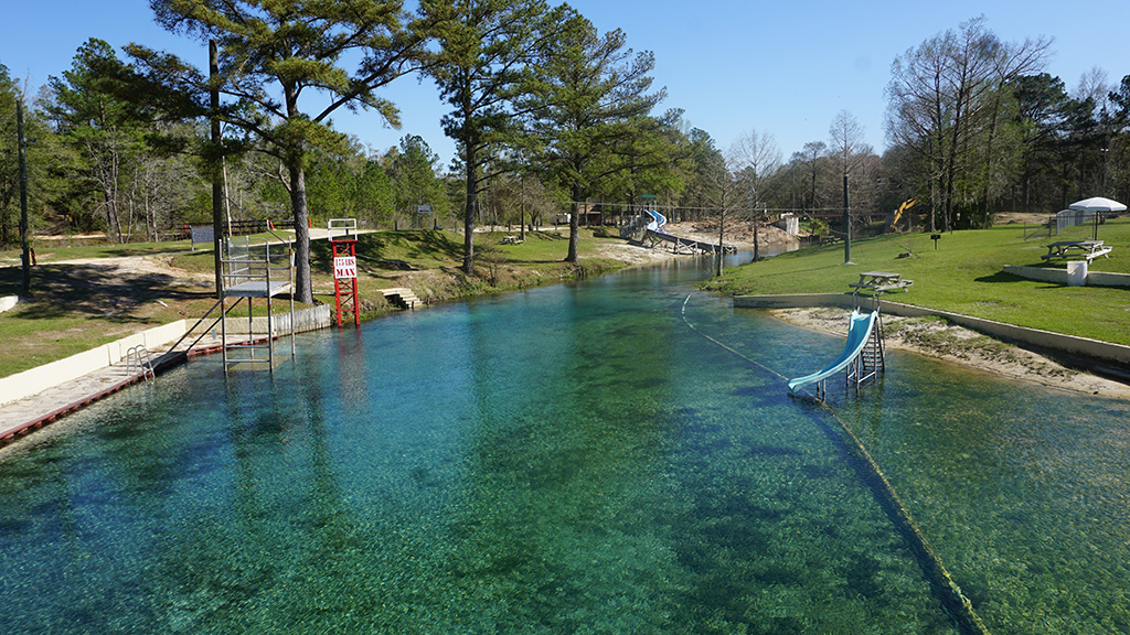 Swimming area at Vortex Spring