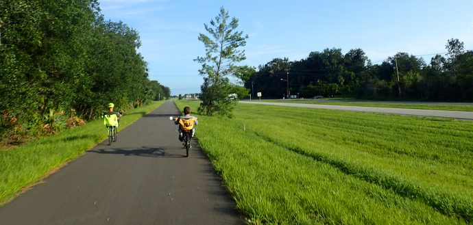 Riding the C2C paralleling US 1 in North Titusville