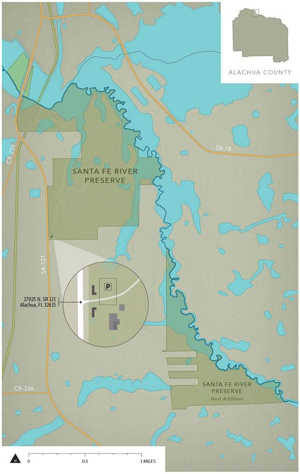 Santa Fe River Preserve location