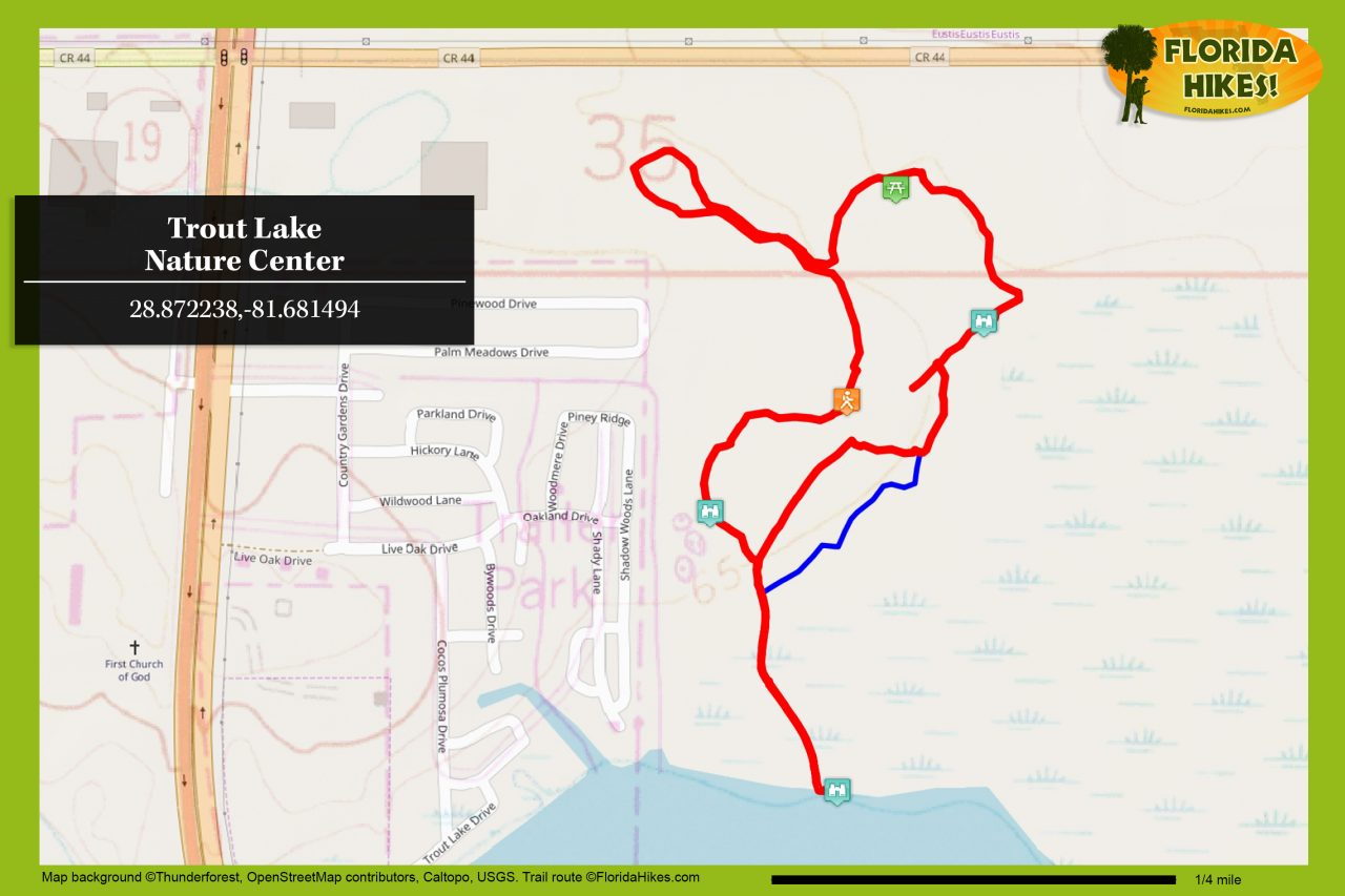 Trout Lake Nature Center trail map
