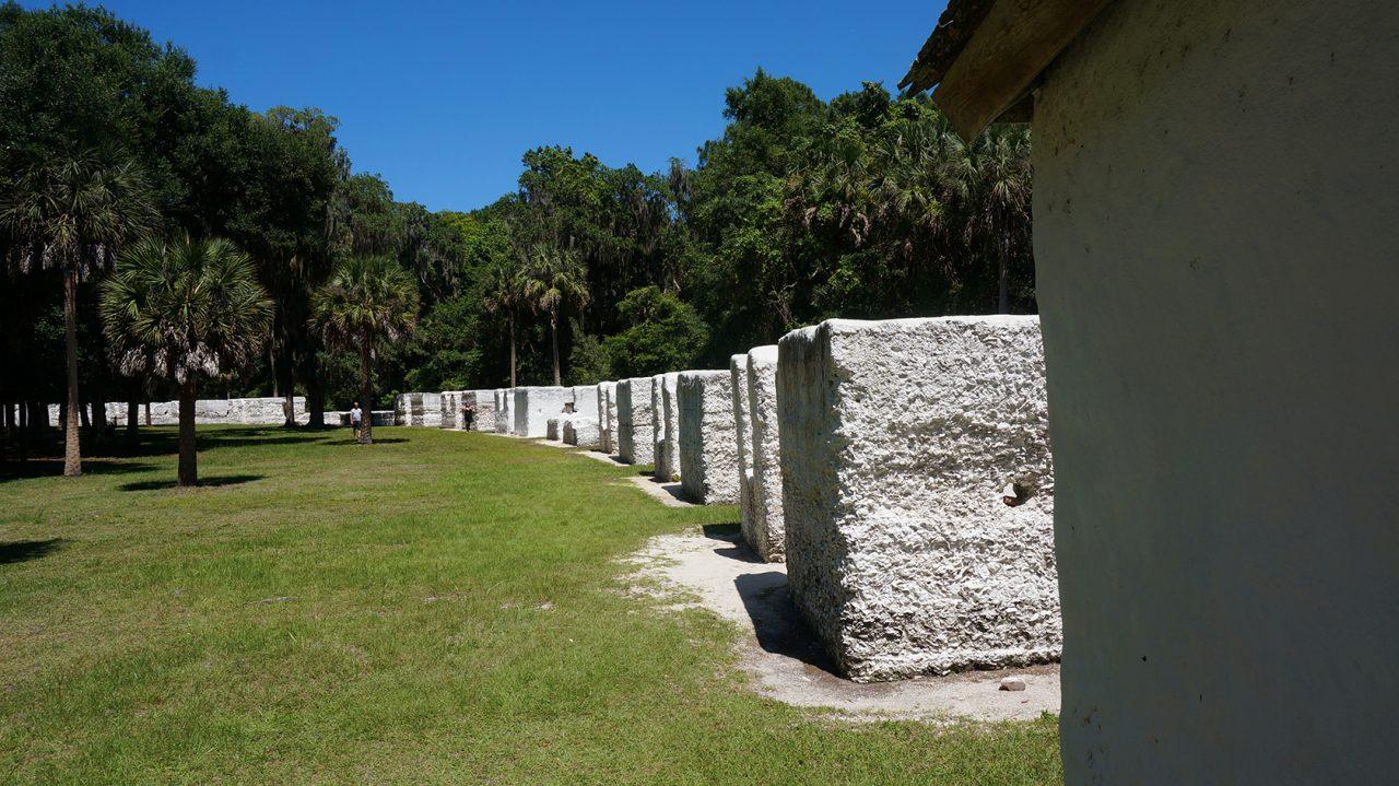 Slave cabins Kingsley Plantation