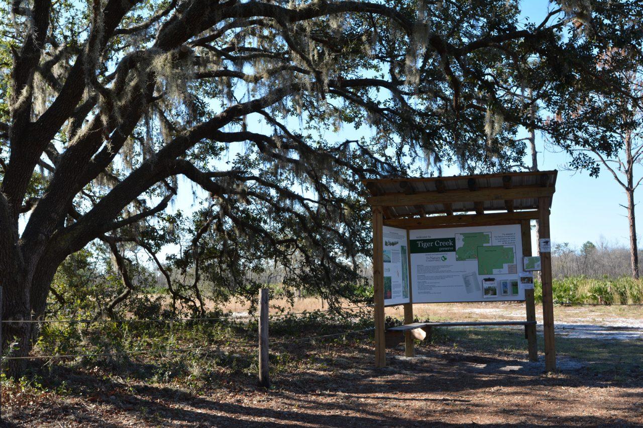 Wakeford Road trailhead at Tiger Creek Preserve
