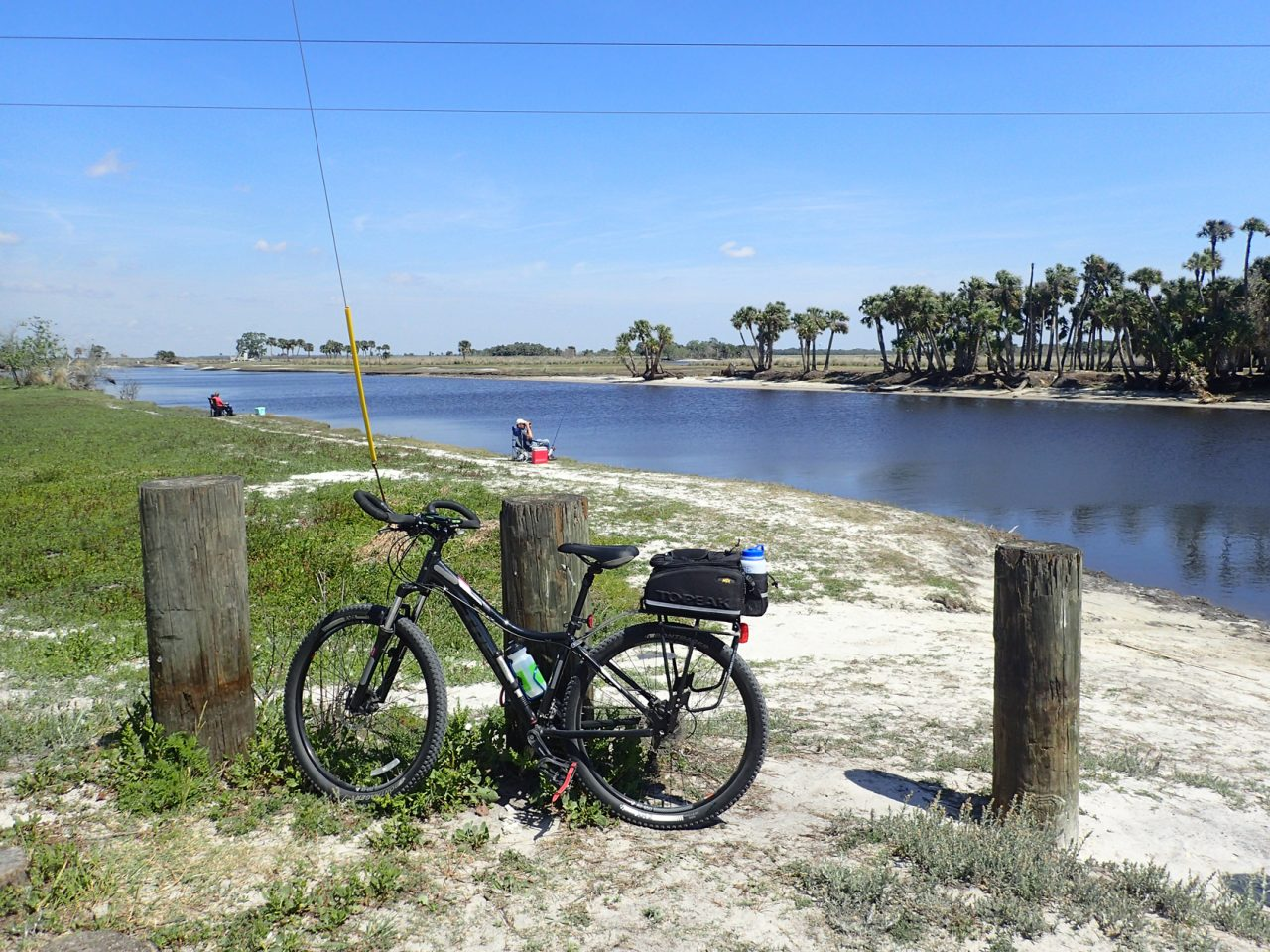 St. Johns River at the end of Powerline Road