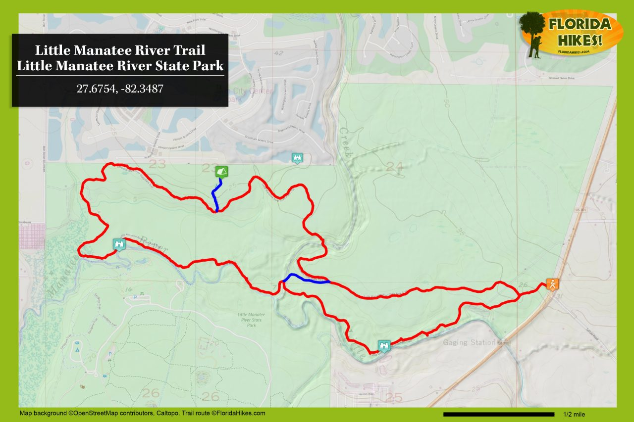 Little Manatee River Trail map