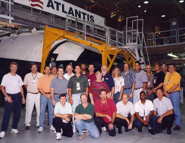 shuttle Atlantis team