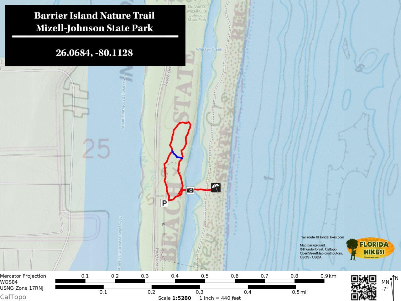 Barrier Island Trail map