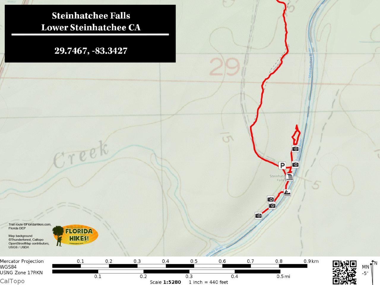 Steinhatchee Falls map