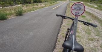 C2C sign and bike