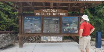 Informational kiosk at Crocodile Lake NWR