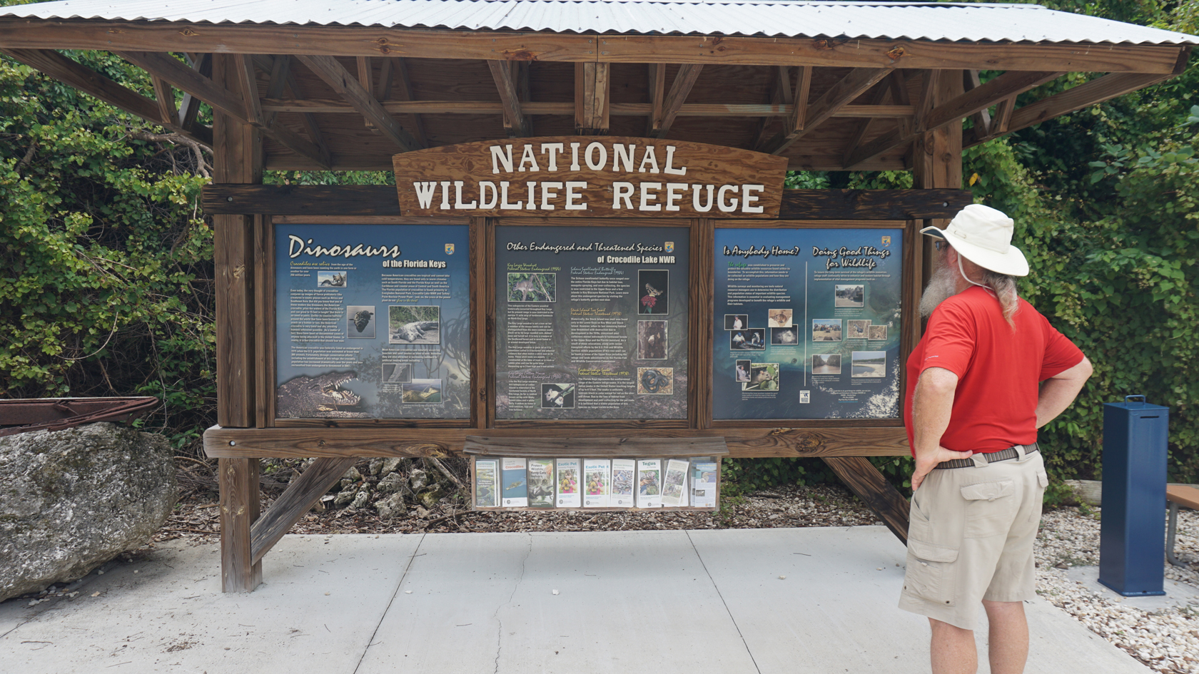 Informational kiosk at Crocodile Lake NWR