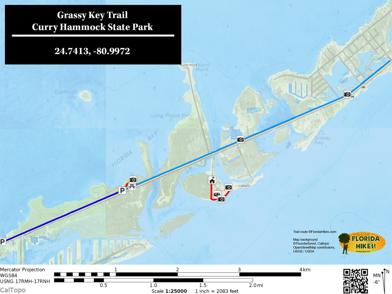 Grassy Key Trail map