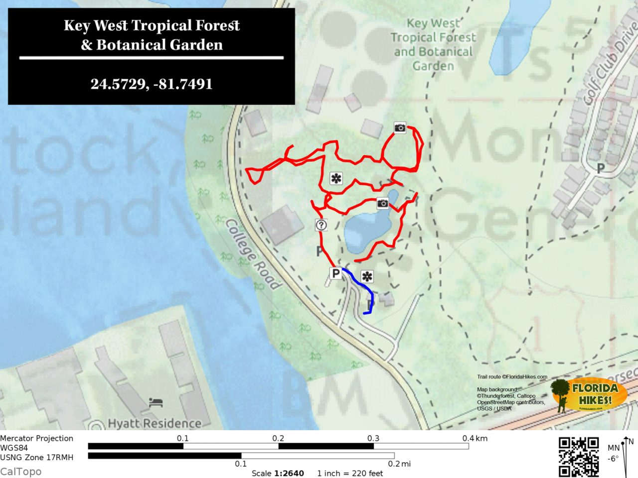 Key West Tropical Forest Botanical Garden trail map