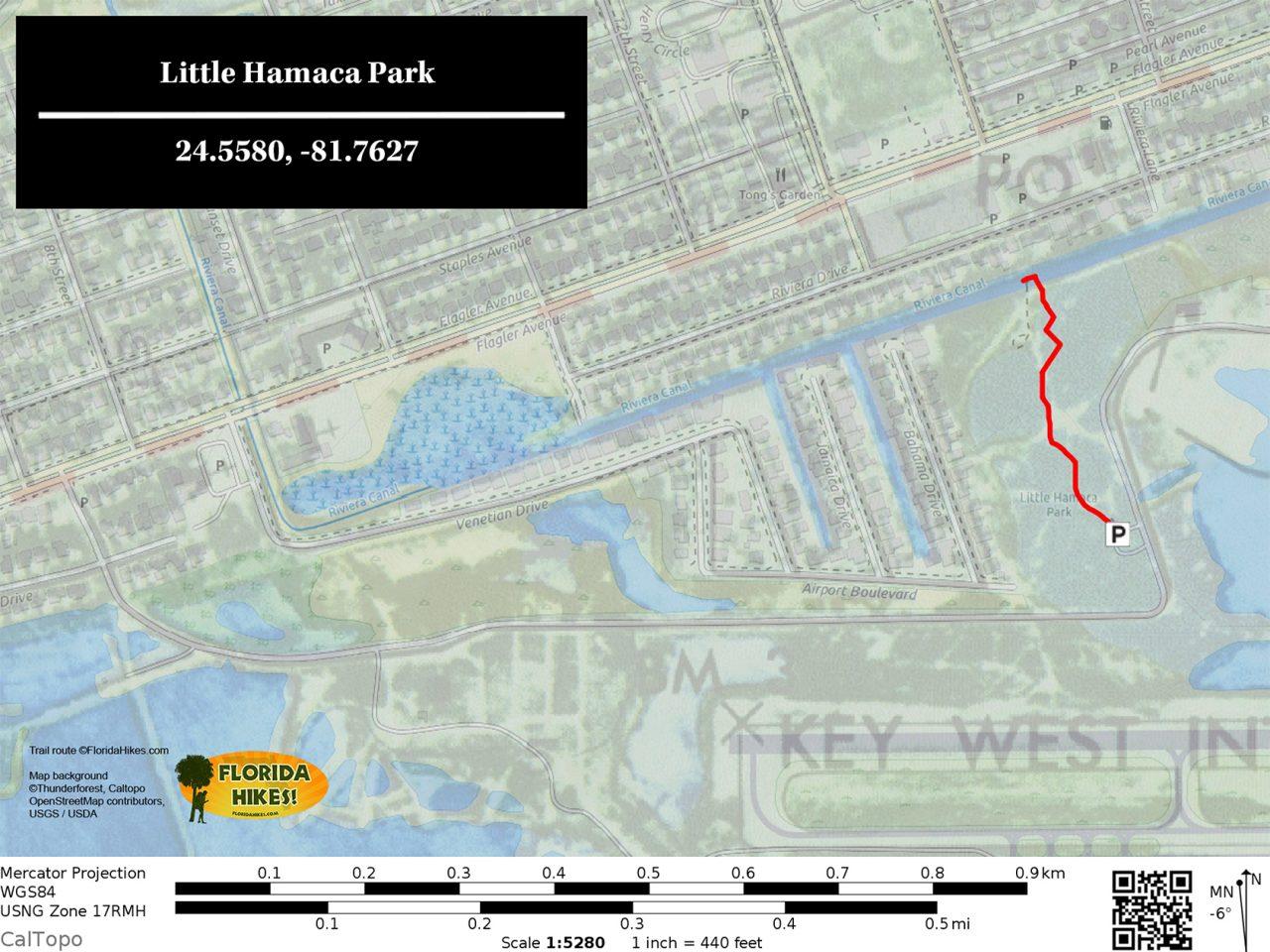 Little Hamaca Park trail map