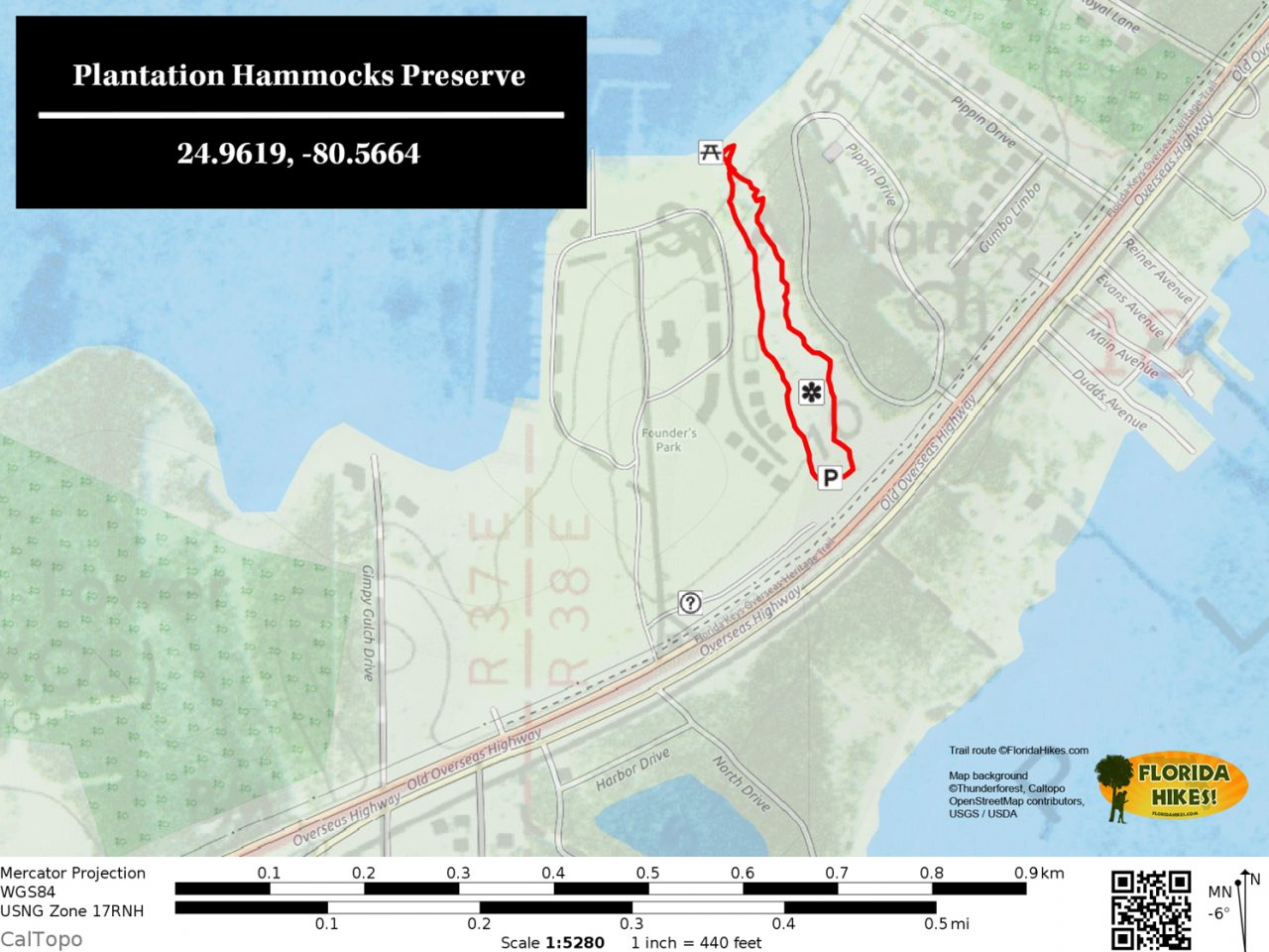 Plantation Hammocks Preserve trail map