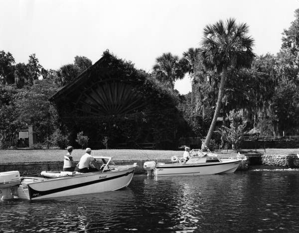 Boaters near the Old Spanish Mill