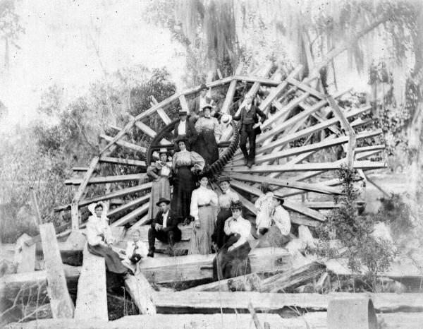 De Leon Springs water wheel 1897