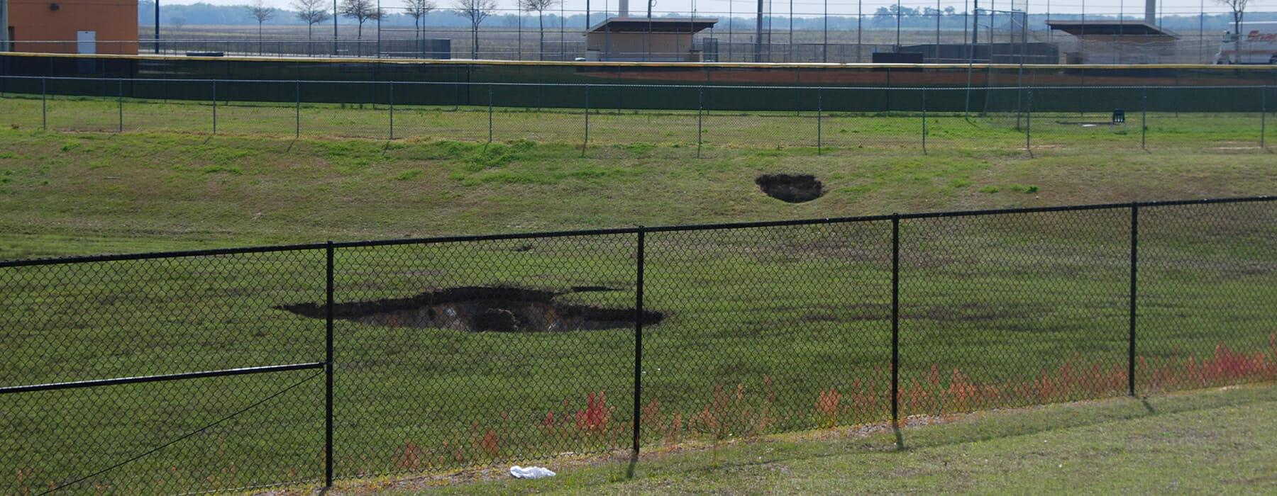 Sinkhole at West Port High School Ocala