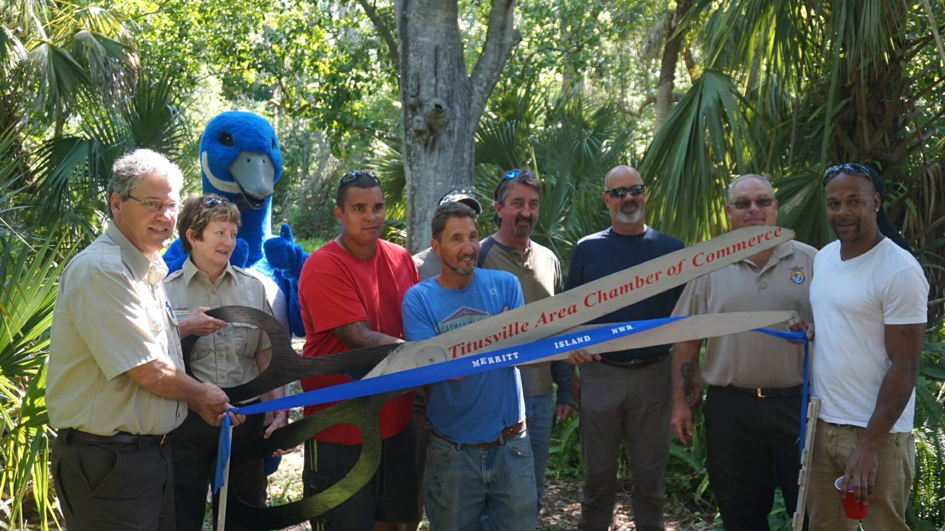 Ribbon cutting for reopening of the Hammock Trails at Merritt Island NWR