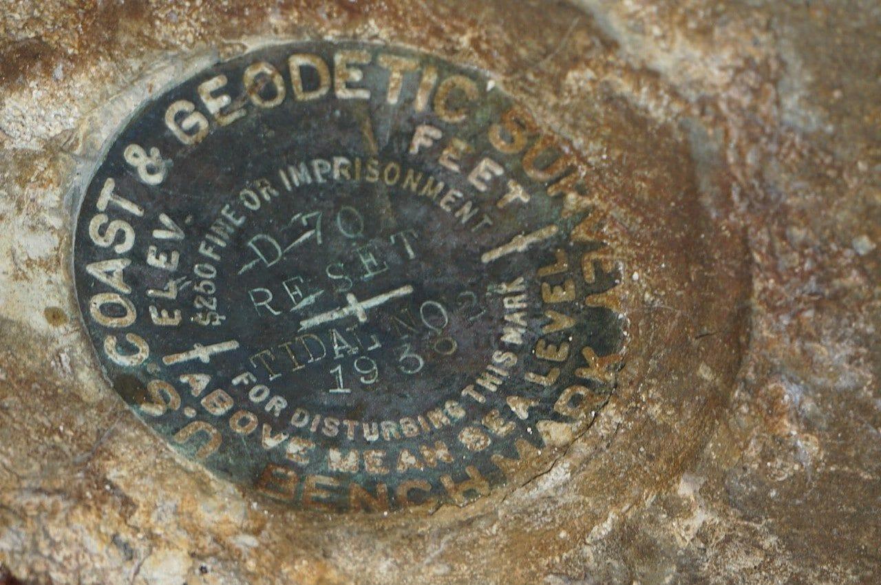 Bahia Honda survey marker