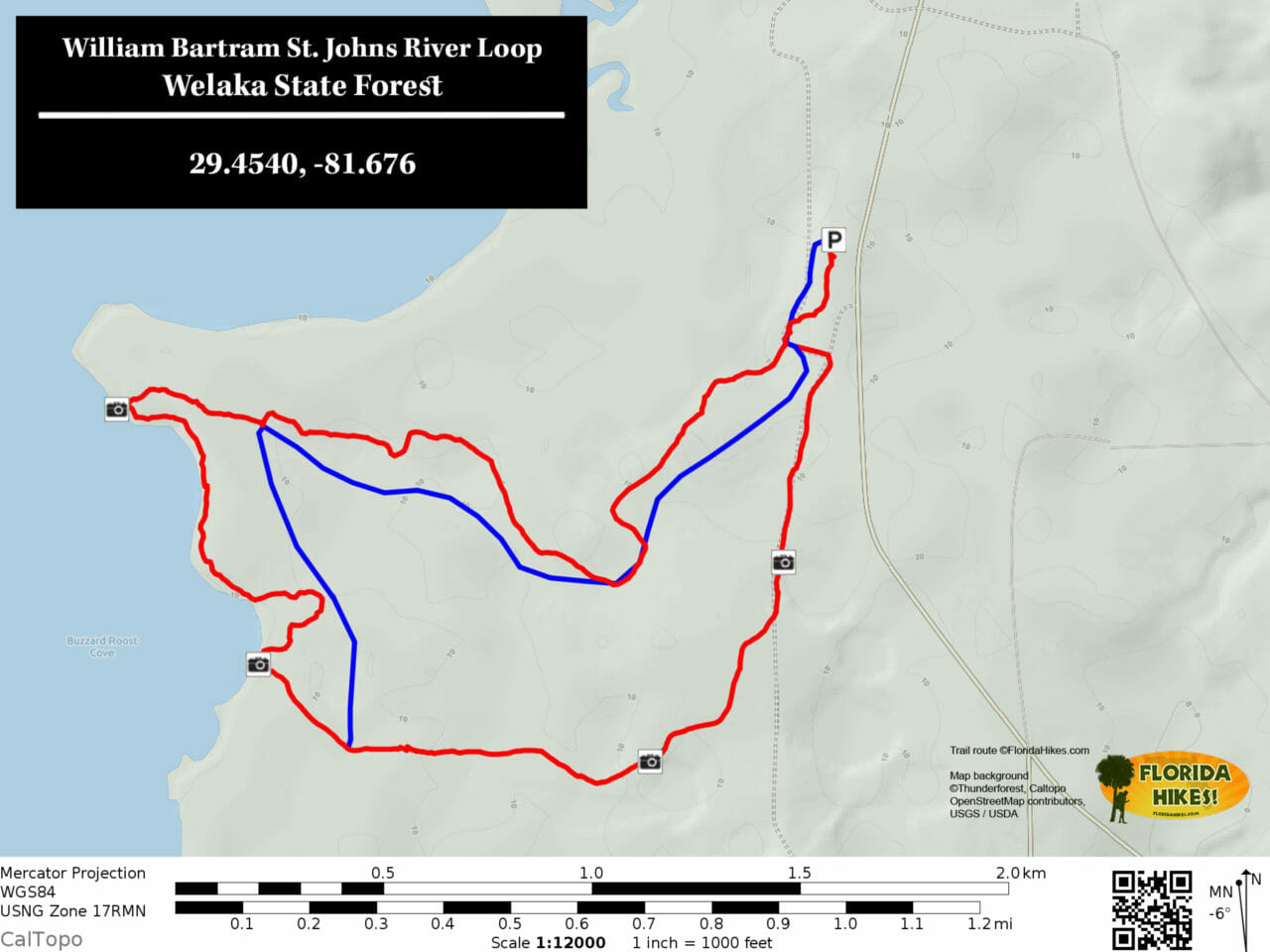 William Bartram Trail map